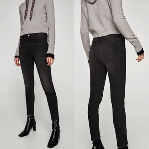 ZARA High Waist Bi-Stretch Skinny Jeans